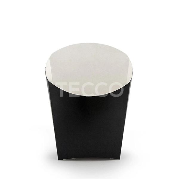 Упаковка для картошки фри черная 65х115мм Tecco 013915