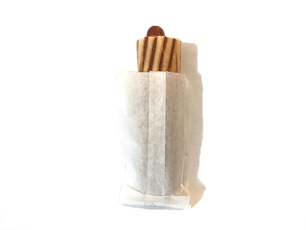 Пакет саше белый крафт для хот дога 7.113