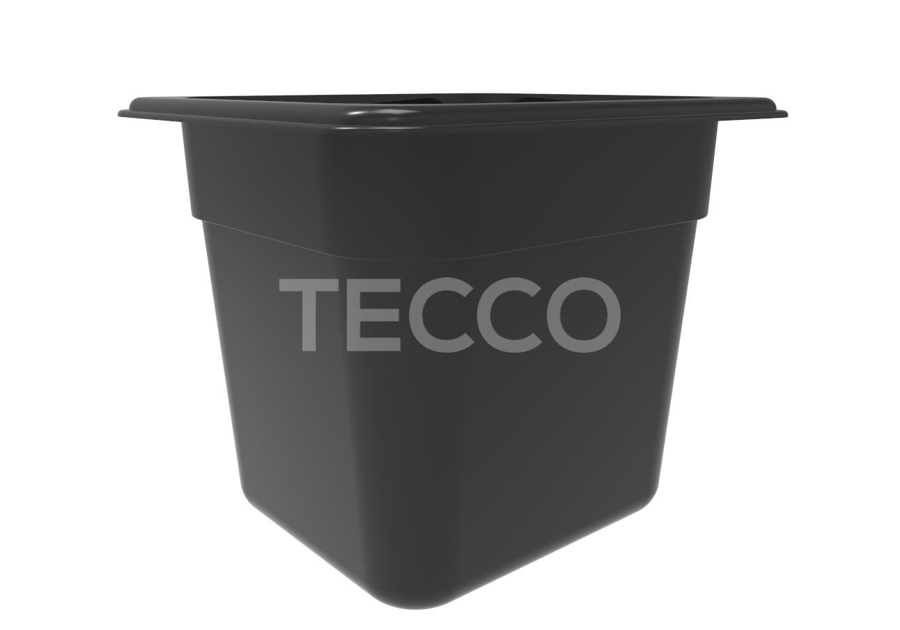 Гастроемкость из черного поликарбоната GN1/6 150 Larder