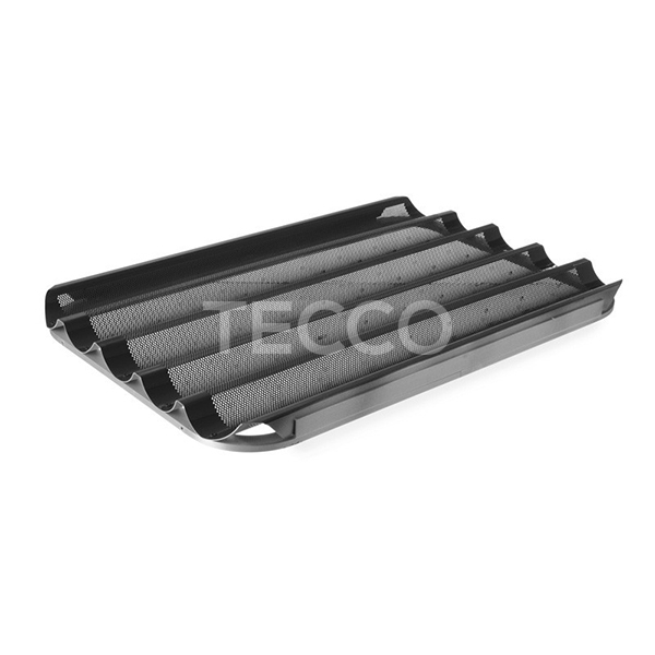 Противень для багетов стальной перфорированный 5 волн Tecco