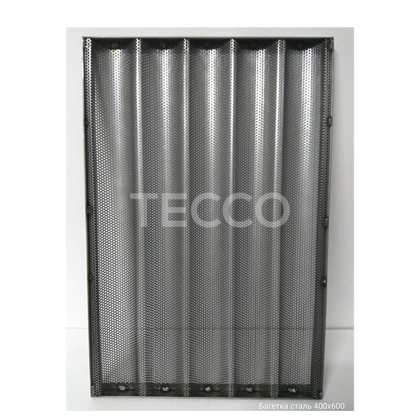 Лист багетный с чёрного металла Tecco 800х600 8 волн