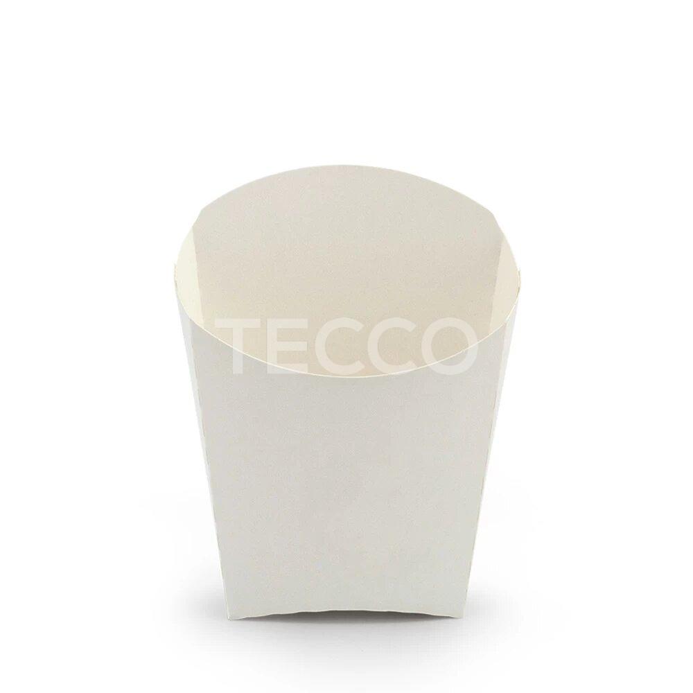 Упаковка для картошки фри белая 65х115мм Tecco 013913