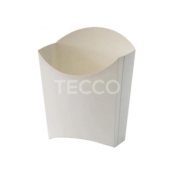 Упаковка для картошки фри белая 77х163мм Tecco 013810