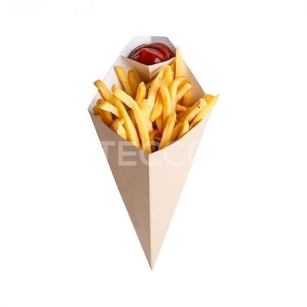 Упаковка бумажная для картошки фри 80х200 Tecco 013744